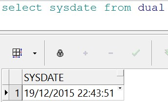 sysdate